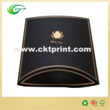 De zwarte Druk van de Doos van het Hoofdkussen van de Kleur van de Douane Volledige met het Gouden Stempelen van de Folie (ckt-cb-436)