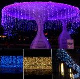 6*3m 600LEDs LED imprägniern der Vorhang-Licht-Eiszapfen-Licht