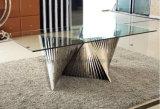 Mobília Home ajustada de vidro moderna da tabela de jantar