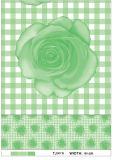 Mantel impreso PVC barato al por mayor del modelo de la fábrica con el apoyo para la boda