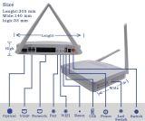 Ontario Gpon ONU de FTTX Gpon con 4ge+WiFi