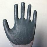 Nylon перчатки с поддельный покрытием нитрила пены