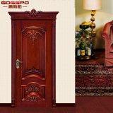 Puerta delantera de madera del diseño clásico de la habitación de encargo para la casa (GSP2-006)