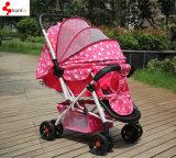 Pram do carrinho de criança de bebê do toque do peso leve um/bebê de dobramento - passeante da boneca com assento de carro