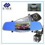 5 espejo del coche DVR de la pulgada 1080P Dashcam con la cámara de visión trasera