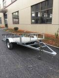 Gegalvaniseerde Aanhangwagen ATV met de Vloer van de Plaat Aluminim
