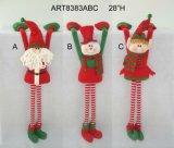 """20 """" H Santa et bonhomme de neige avec le Pompom à jambes, décoration d'Asst-Noël 3"""