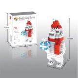 14889110-Micro Bloque Kit Navidad Series Bloques Set Creative Juguetes DIY 140PCS - Oso Blanco De Navidad