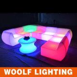 Sofà illuminato sofà di telecomando LED di Opertaed della batteria di Changingled LED di colore del LED