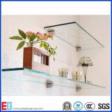 3 - 12 millimètres de flottement rectangulaire/ont durci la glace en verre en verre d'étagère/douche/décoration