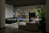 Moderno estilo clásico de cuero blanco solo sofá (D-54)