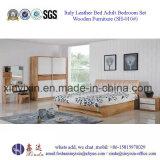 إيطاليا جلد سرير بالغة غرفة نوم مجموعة أثاث لازم خشبيّة ([ش-010])
