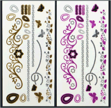 Tatuaje impermeable temporal metálico del arte de las etiquetas engomadas del tatuaje del oro