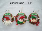 """22 """" венок украшения рождества h Санта, снеговика и эльфа, 3 Asst"""