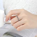 Frauen-weißes Goldring-Schmucksache-Heck-Hochzeits-Ringe