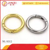 Joint circulaire de clip D de boucle de courroie en métal de sac en cuir d'usine et boucle faits sur commande de grand dos