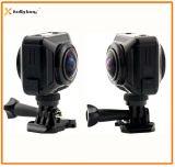 Macchina fotografica doppia senza fili di azione 360 di Vr dell'obiettivo di WiFi, macchina fotografica 360, macchina fotografica panoramica di azione di 360 gradi