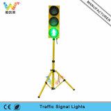 Luz Pedestrian personalizada do diodo emissor de luz de 125mm com luz de sinal do tráfego do tripé