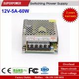 12V 5A 60W Schaltungs-Stromversorgung für Sicherheits-Überwachung