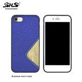 Cassa di cuoio del telefono del PC di effetto di Shs per la galassia S6 di Samsung