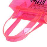 Color del caramelo impermeable de PVC Jelly Compras bolsa de asas