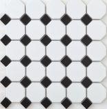 بيضاء وسوداء خزفيّة جدار قراميد لأنّ حمّام قرميد