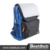 Kind-Schule-Beutel (blau mit schwarzer Tasche)