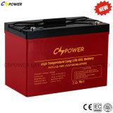 Gel 12V 100ah Cspower de Batterie, bateria solar Htl12-100 do ciclo profundo