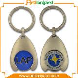 최신 판매 플라스틱 트롤리 동전 Keyholder
