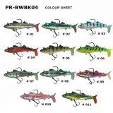Künstlicher Plastikköder Pr-Bwbk04 mit Haken-Weiche-Phasenfischen-Köder