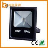 30W delgado IP67 al aire libre de la lámpara de alta potencia de luz de inundación del LED 10-100W Color Blanco caliente / puro / blanco fresco RGB
