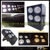 4PCS * 100W caliente blanco + blanco frío 2in1 COB LED audiencia Blinder luz