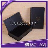 Rectángulo ofrecido negro del estilo del libro de la insignia de la marca de fábrica del papel especial