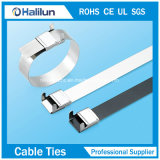 Покрынный PVC замок связи кабеля Крыл-Замка нержавеющей стали затягивает