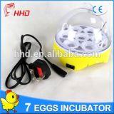 Mini incubadora pequena automática do ovo da galinha para 7 ovos