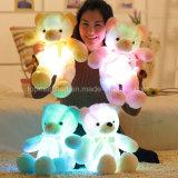 Urso de incandescência da peluche do diodo emissor de luz do brinquedo do luxuoso do animal enchido
