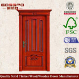 Porta luxuosa da madeira contínua do projeto para o quarto (GSP2-047)