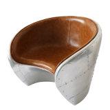 Retro Freizeit-Dachboden-industrieller Art-Stuhl-lederner Stuhl-Wohnzimmer-Aluminiumstuhl