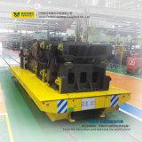 Elektrischer auf Schienen flacher Transport-Blockwagen auf Spuren