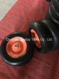 이탈리아 시장 2.80/2.50-4 단단한 편평한 자유로운 PU 거품 바퀴