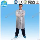 Vestido de trabajo disponible al por mayor de la fábrica, delantal no tejido con las fundas largas