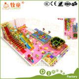 Fábrica de interior del patio en Guangzhou China, exportada por todo el mundo. Tubo de Gavalnized de la fibra de vidrio. Casa del juego del papel del trampolín