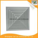 Ééndelig Aluminium 4 Verspreider van de Lucht van de Manier de Vierkante