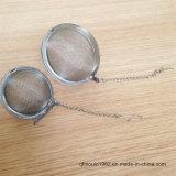 Gancho de leva de cadena inoxidable de Infuser Wih de la bola de té del acoplamiento del acero nuevos 304 aprobados por la FDA