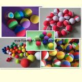 عادية - كثافة ليّنة نظام يوغا تدليك كرة [إفا] زبد لياقة كرة 3 '' قطن أسود زرقاء لون