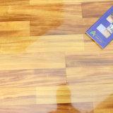 plancher stratifié par HDF à haute brillance de 12.3mm