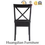 Madeira contínua da mobília americana do restaurante do preto do estilo que janta a cadeira (HD464)