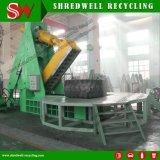Máquina de corte de neumáticos de mina de chatarra de diseño exclusivo especialmente para reciclaje de gran tamaño de chatarra OTR neumático