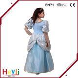 Vestito da partito blu classico di festa della principessa Stage Performance Costume della sfera