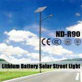 Réverbère en aluminium actionné solaire de DEL avec Pôle (ND-R90)